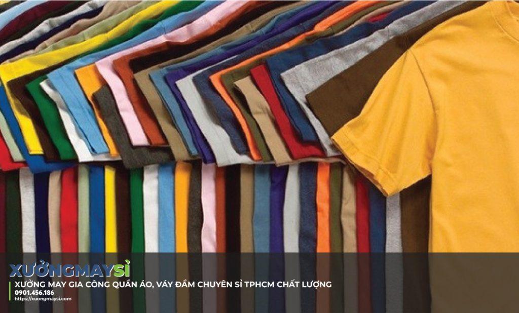 Xưởng may áo thun bỏ sỉ giá rẻ TPHCM