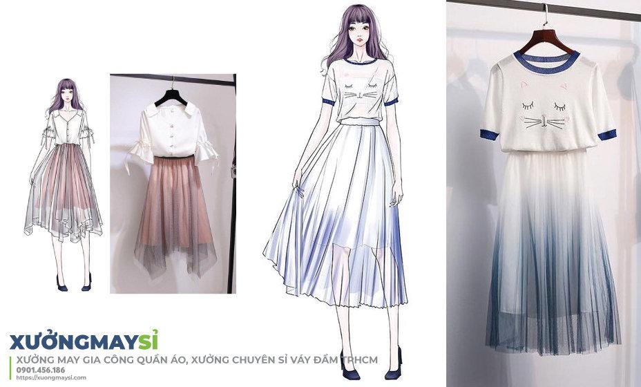 Bạn có thể tự lên mẫu và may những chiếc váy đầm thiết kế để kinh doanh