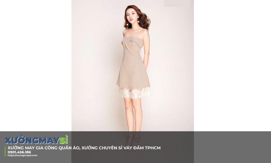 Xưởng may váy đầm hotgirl, váy đầm thiết kế cao cấp TPHCM