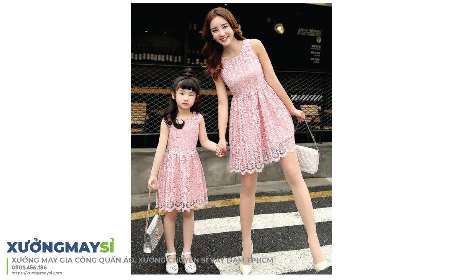 Lấy sỉ váy đầm đôi cho mẹ và bé tại các nguồn hàng chuyên sỉ