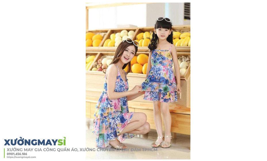 Lấy nguồn hàng váy đầm đôi cho mẹ và bé tại các xưởng may gia công