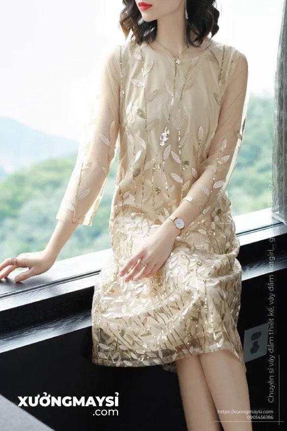 Đầm suông form rộng cá tính dự tiệc cưới