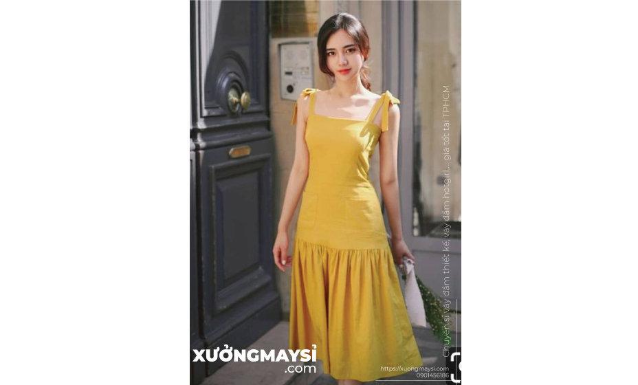 Những bộ váy đầm màu vàng bạn thể hiện năng lượng sự tỏa sáng