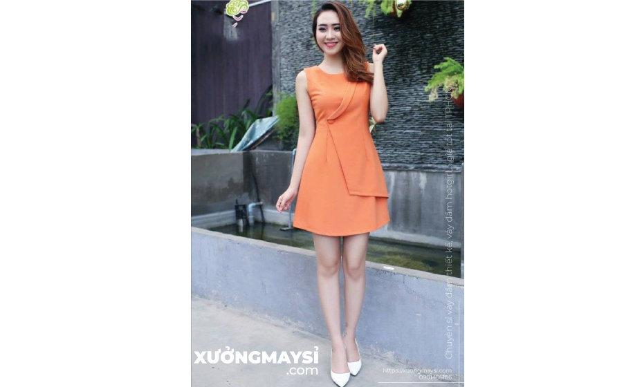Những mẫu váy đầm màu cam luôn tạo ra một không khí vui nhộn