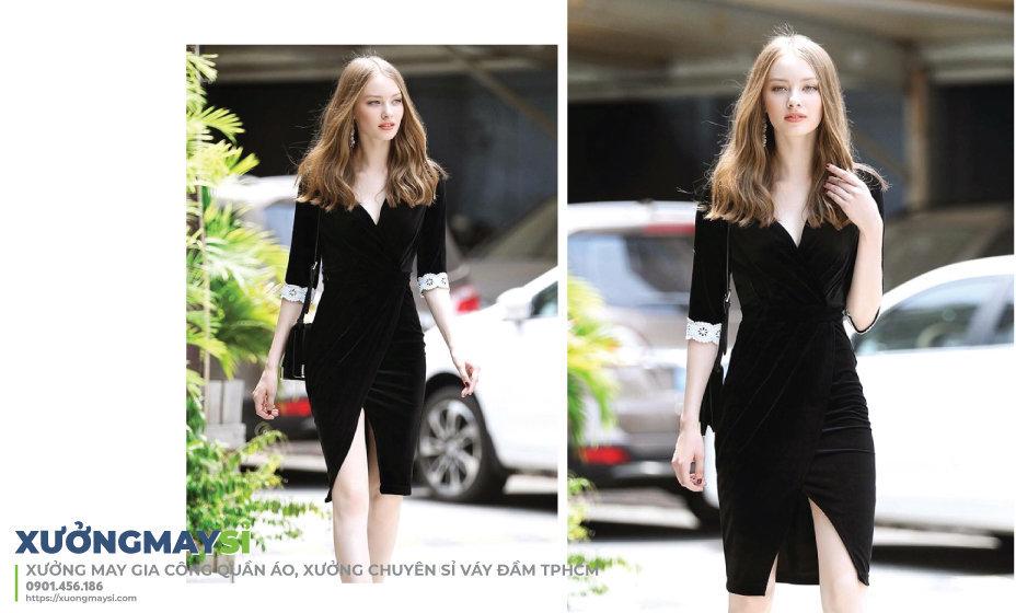 Váy đầm dự tiệc màu đen là màu luôn mang lại sự huyền bí nhưng sang trọng