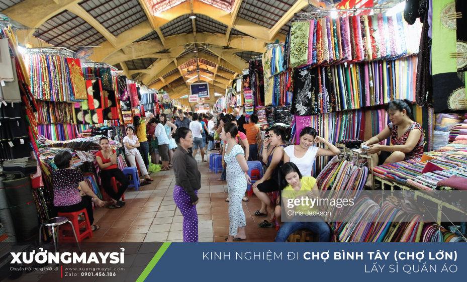 Kinh nghiệm đi chợ Bình Tây lấy sỉ quần áo