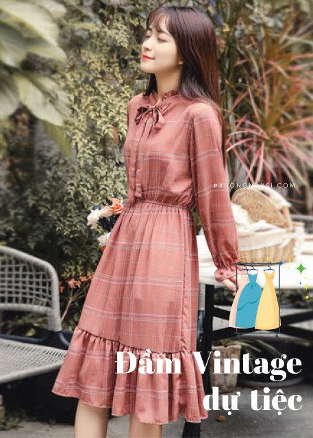 Váy Vintage tiêu thư Nhật