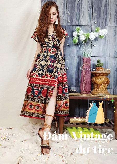 Váy đầm vintage thổ cẩm