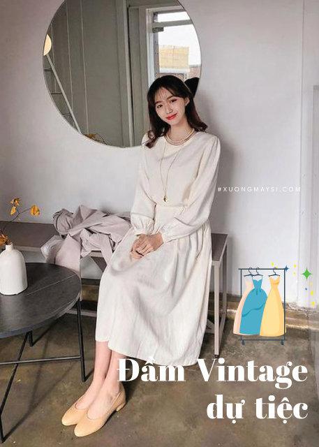 Váy Đầm vintage trắng
