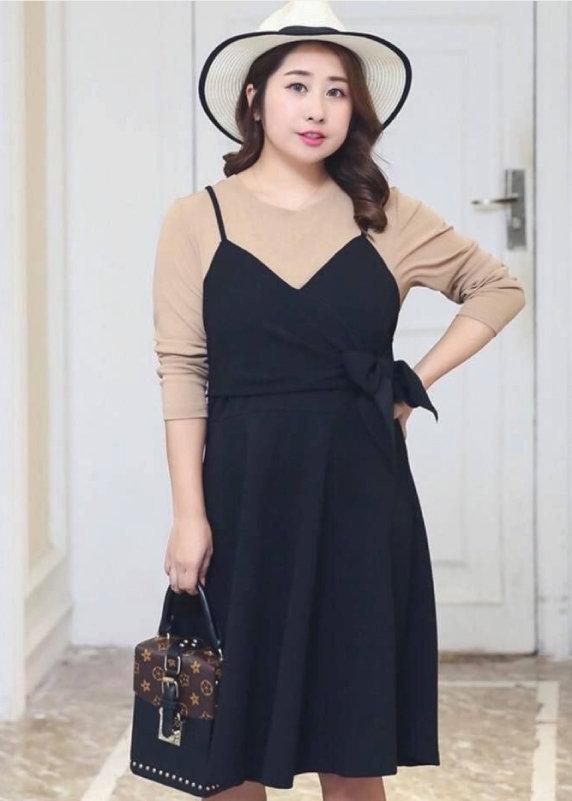 Váy yếm cho người béo dự tiệc tự tin vóc dáng giúp bạn trở nên năng động trẻ trung