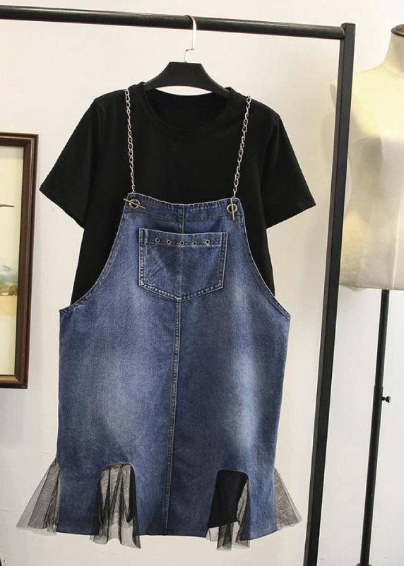 Váy yếm jean dành cho người mập