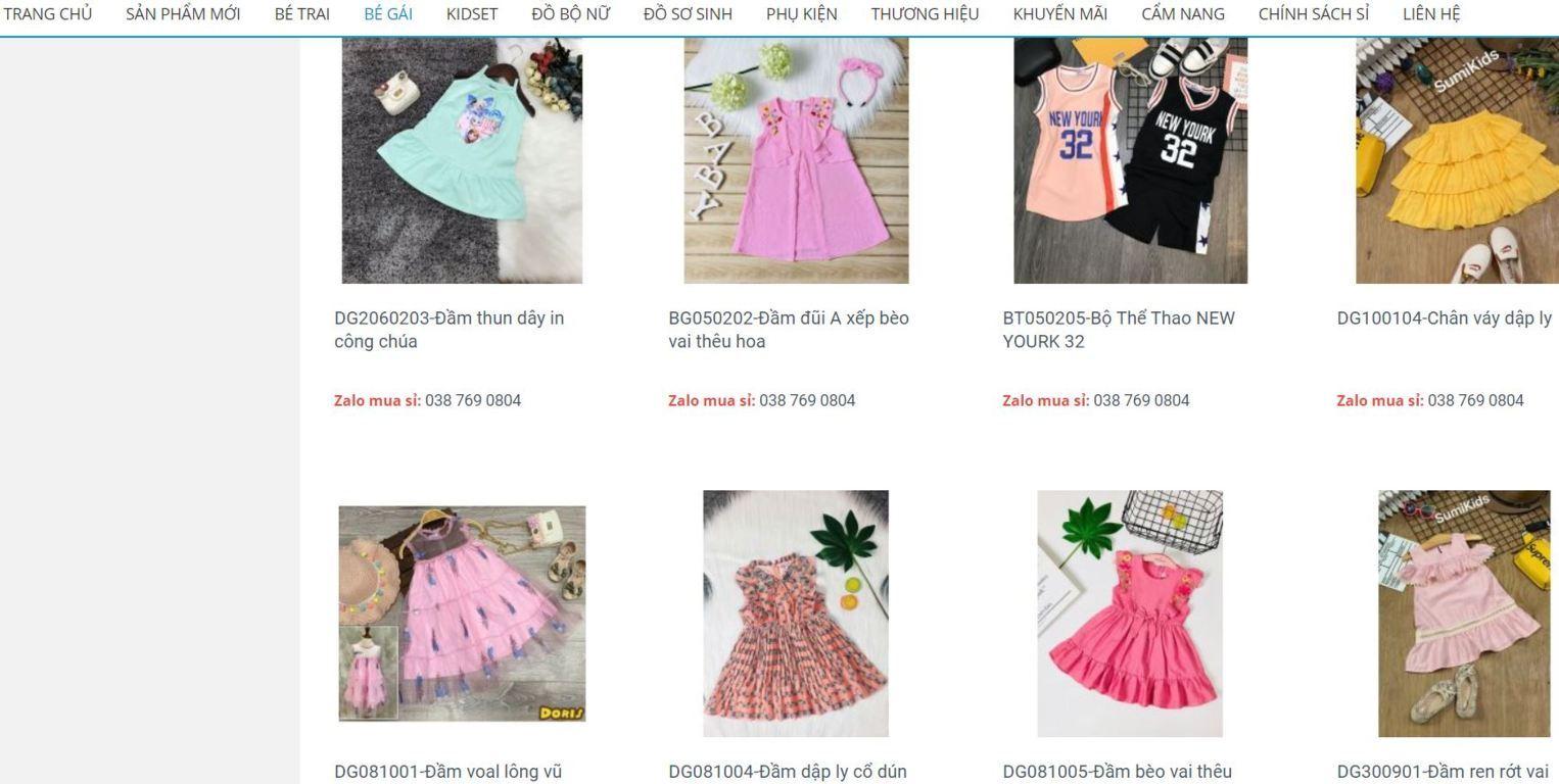ZKids Chuyên sản xuất phân phối quần áo trẻ em hàng VNXK