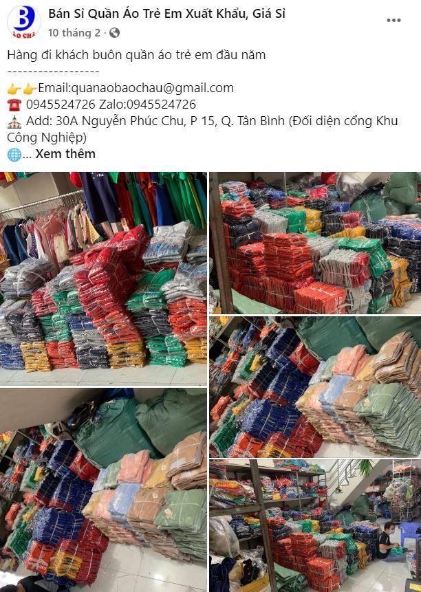 Bảo Châu Chuyên bán buôn quần áo trẻ em xuất khẩu