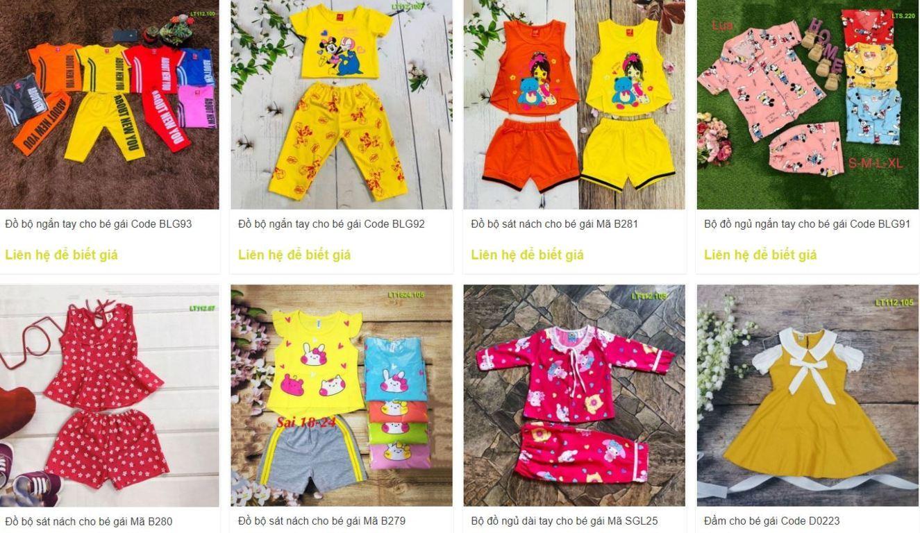 Xưởng may Thanh Long, Xưởng may quần áo trẻ em giá rẻ tại TPHCM