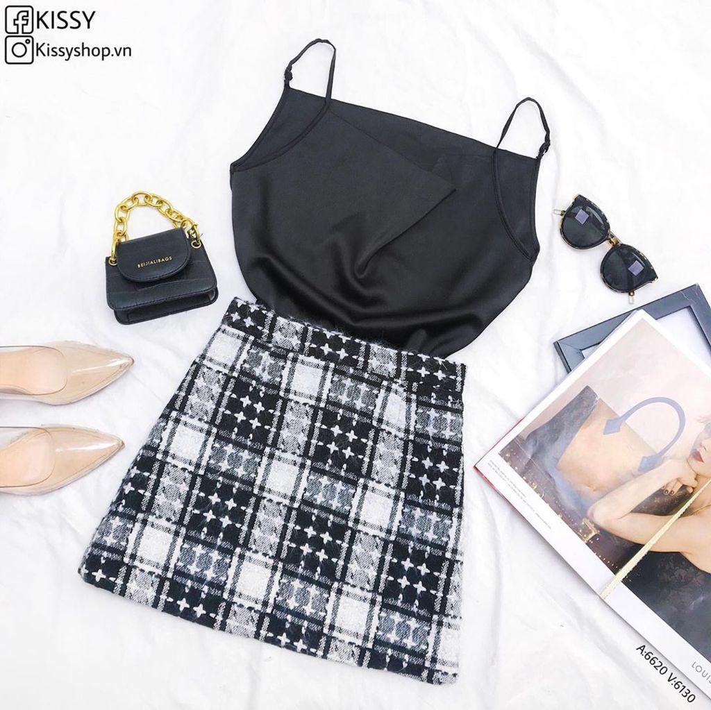 Set chân váy + áo kiểu