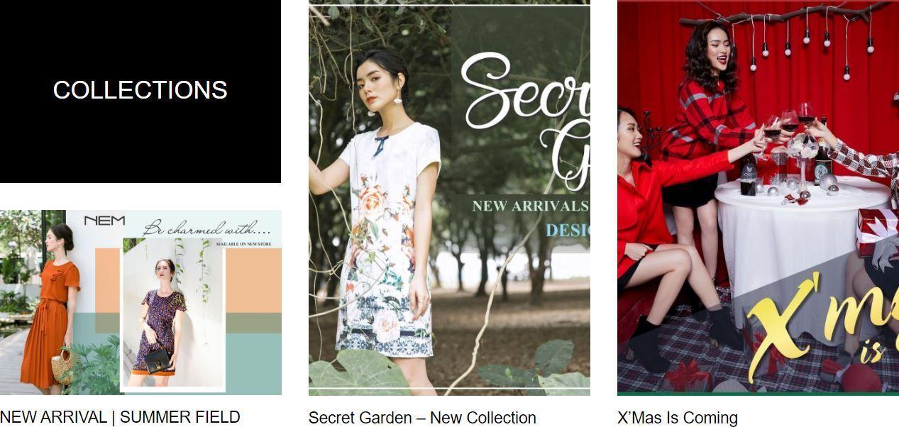 Một số bộ sưu tập sản phẩm của NEM Fashion