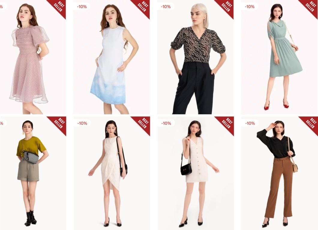 Sản phẩm đa dạng của Marc Fashion để chị em có thể dễ dàng lựa chọn theo phong cách của mình