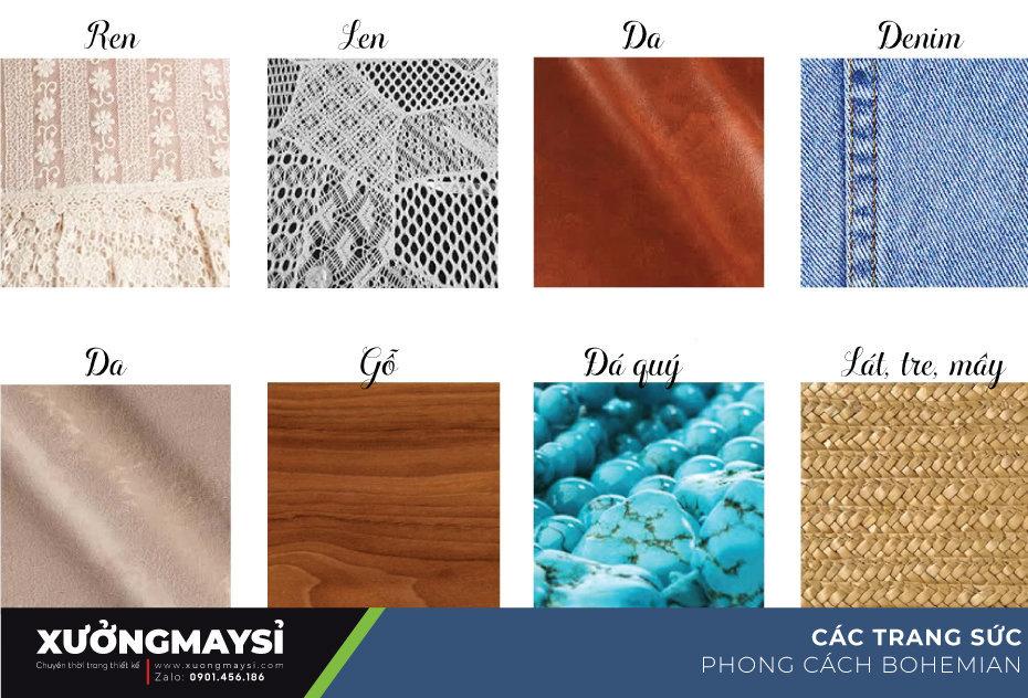 Các chất liệu cấu thành phong cách boho style