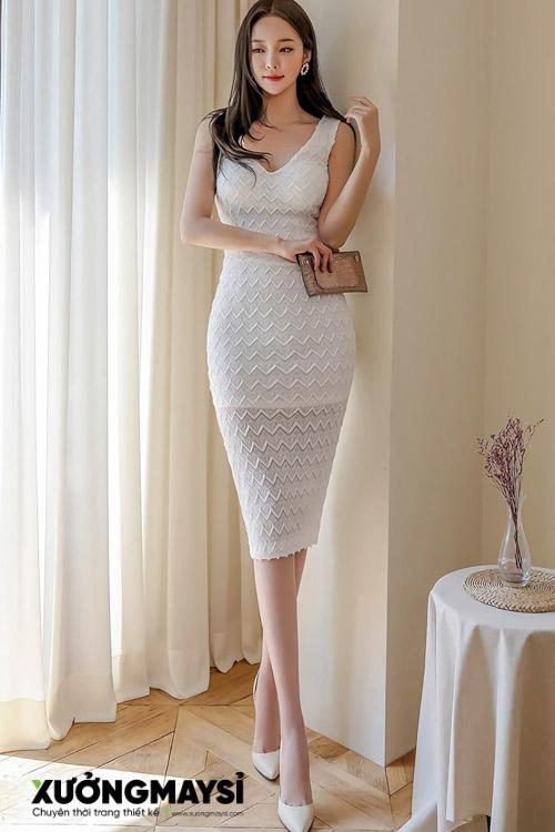Váy ôm body ngắn xếp ly sang trọng