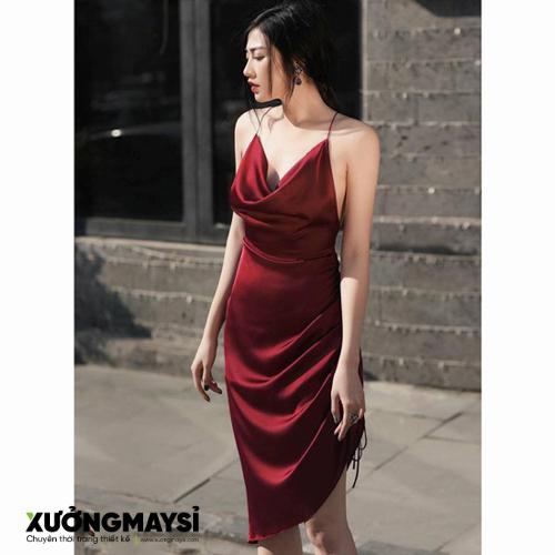 Đầm ôm thiết kế cổ đổ quyến rũ sexy giúp các nàng nổi bật trong buổi tiệc