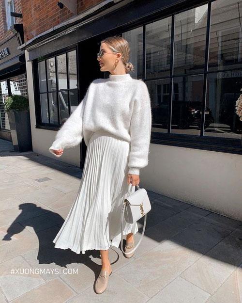 Áo len luôn là mẫu áo không thể thiếu trong mùa đông