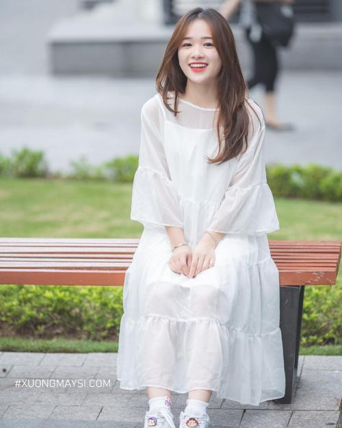 Diện váy trắng xinh như thiên thần dành cho nữ thấp