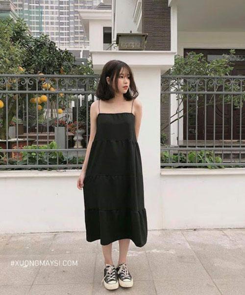 Váy 2 dây cute dành cho nữ thấp