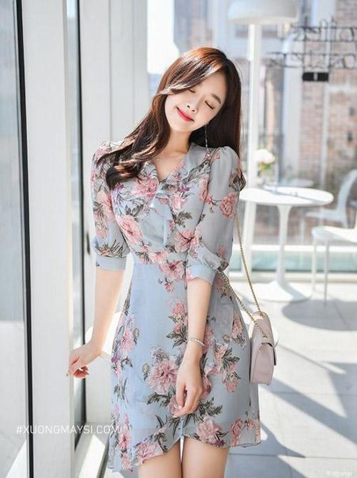 Đầm voan màu sắc trẻ trung tươi sáng dành cho các bạn nữ thấp