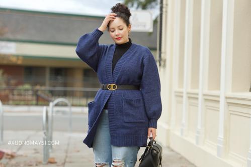 Phối áo cardigan mang phong cách thời trang lịch sự