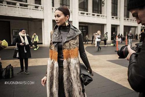Thanh Hằng diện trang phục tham dự Fashion Week tại New York