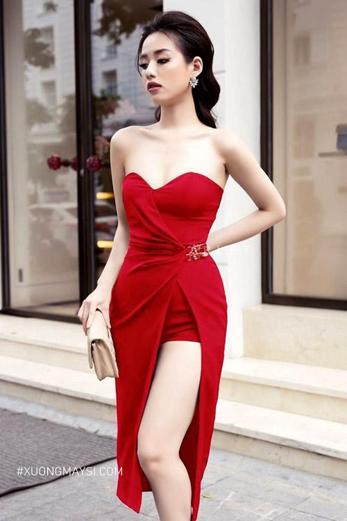 Đầm ôm body xẻ siêu gợi cảm dành cho các bạn nữ