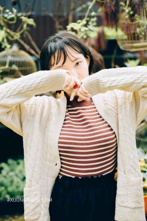 Dòng áo khoác cardigan phong cách nhẹ nhàng và đáng yêu dành cho nữ