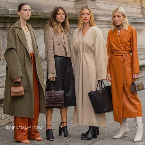 Trang phục da hiện đại và quý phái cho các quý bà