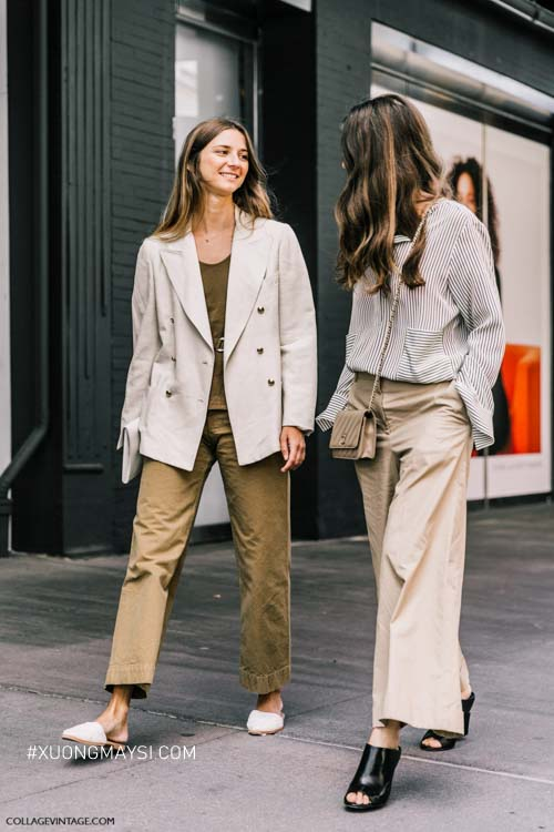 Phong cách trang trọng mang tính hiện đại cho phái nữ với quần kaki