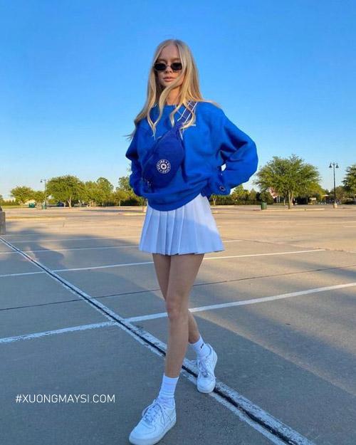 Ngày hè thì không thể thiếu tennis skirt