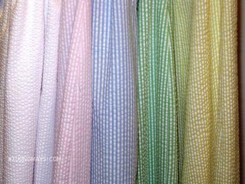 Vải nhăn kẻ sọc với những gam màu ngọt ngào
