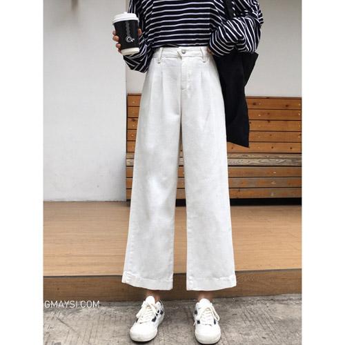Quần kaki ống suông phong cách basic dành cho các bạn
