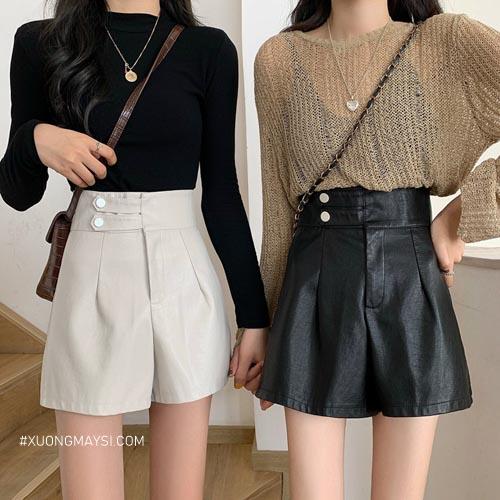 Quần short nữ lưng cao phù hợp với phong cách đóng