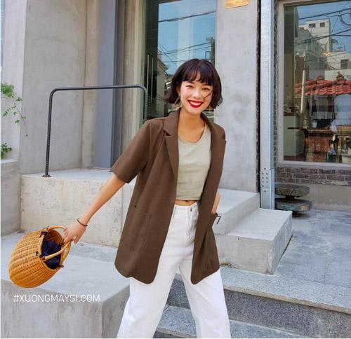 Xinh xắn và tự tin sải bước trên phố cùng với chiếc áo Blazer tay ngắn dành cho các bạn nữ