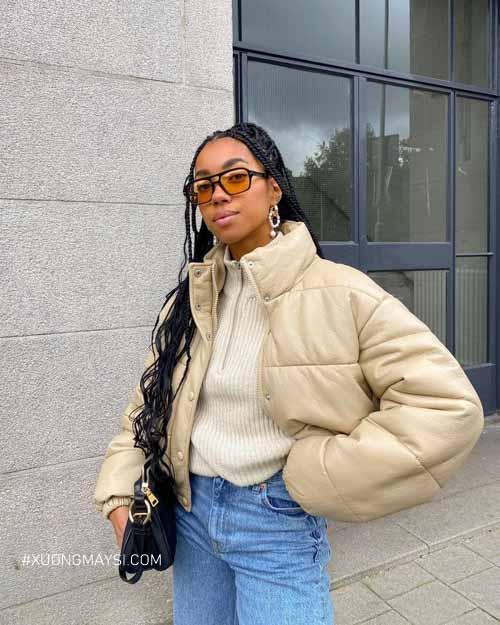 Áo puffer jacket giữ ấm mùa đông dành cho nữ
