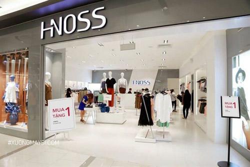 Thương hiệu thời trang nữ Hnoss được phân phối khá nhiều cửa hàng trên thị trường