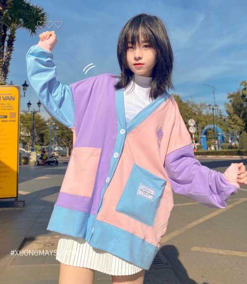 Cardigan mix - Dòng áo khoác cardigan phối màu pastel được bán chạy dành cho các bạn nữ