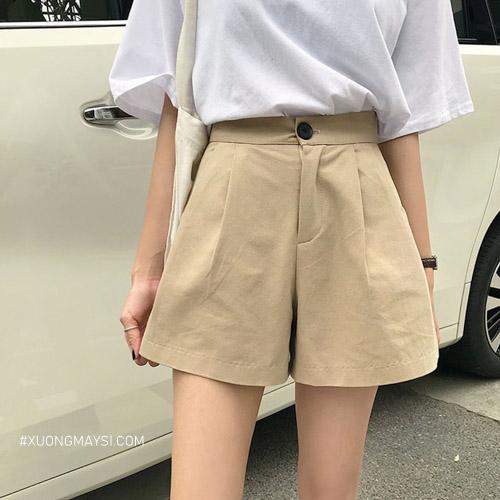 Quần short kaki nữ mang phong cách đáng yêu cho các bạn nữ