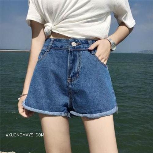 Quần short jean nữ lưng cao xinh xắn để các bạn nữ của chúng ta tự tin khoe dáng