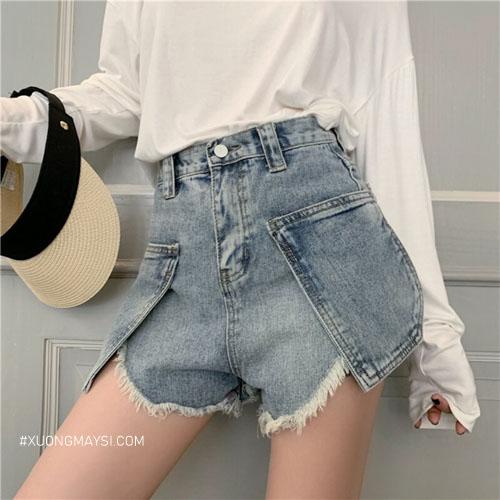 Quần short jean nữ rách với các đường nét phá cách tạo nên sự độc đáo và trẻ trung dành cho các bạn nữ