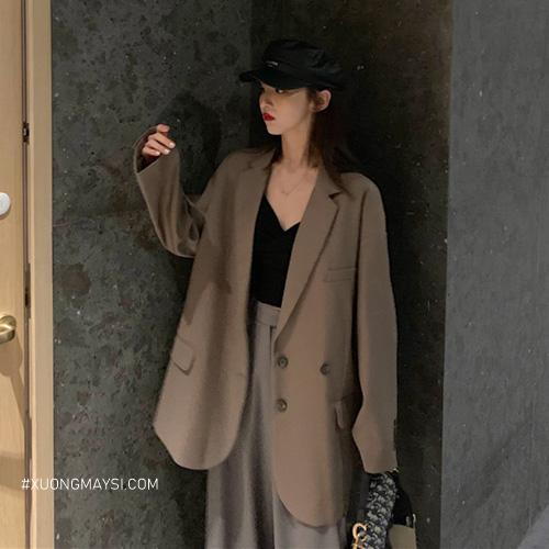 Áo khoác blazer form rộng đáng yêu, mảnh mai dành cho các bạn nữ