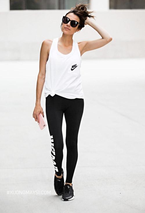 Quần legging Nike ấn tượng và co giãn tốt dành cho các nữ