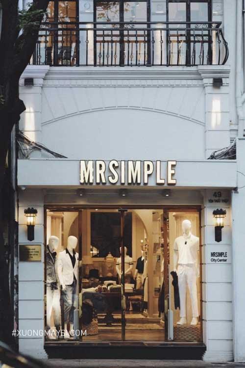 Decor bên ngoài của các cửa hàng Mr.simple khá hiện đại và tinh tế
