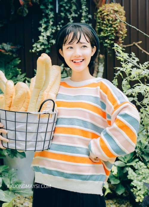 Áo sweater Rách Store cực kỳ đáng yêu dành cho các bạn nữ