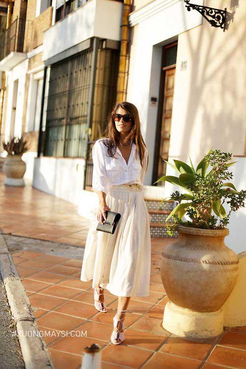 thả dáng cùng outfit vintage dạo phố